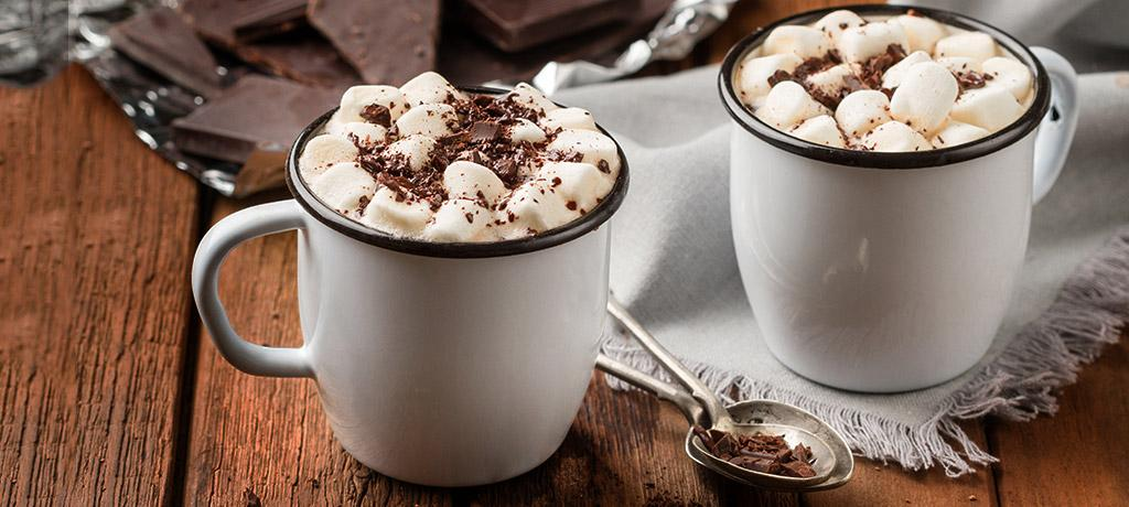 Receta de  Chocolate caliente con marshmallows